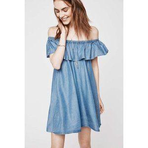 Rebecca Minkoff Dev Dress Light Blue Denim